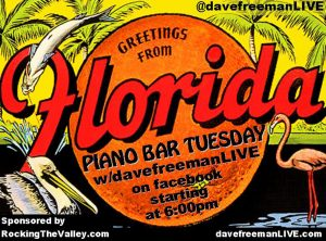 Piano Bar Tuesday - on facebook every week starting at 6pm!!!